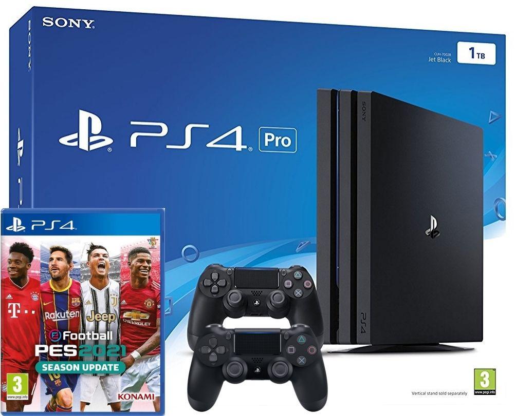 Máy Sony Playstation PS4 Pro 1TB 2 Tay Cầm – Kèm Game PES 2021 (Chính Hãng  Sony Việt Nam) - 34GameShop